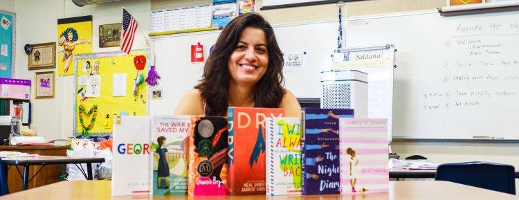 María Saldaña and her books